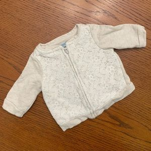 Baby Gap zip up 0-3m